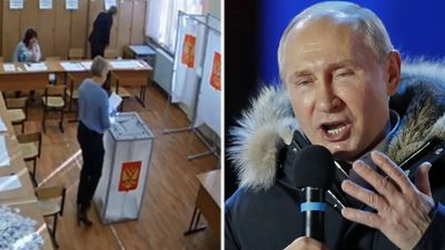'Vote rigging' fears amid Putin landslide poll win