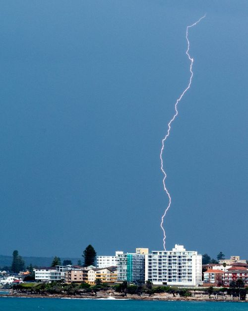 Lightning hits Cronulla.