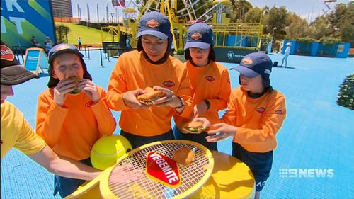 Ballkids have played the role of official taste-testers.