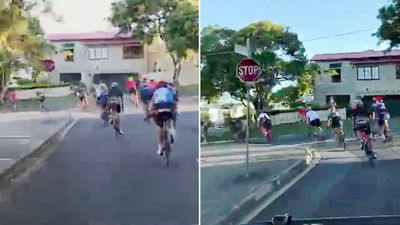 'Aggressive' cyclists ignore sign