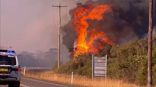 The NSW Far North Coast fire at Tabulum and the Salt Ash Shoalhaven fires both intensified due to strong winds.