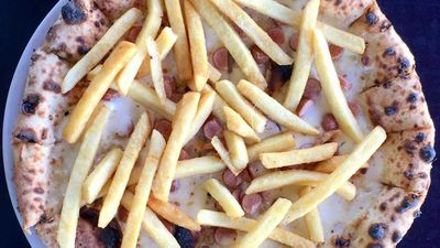 "Recipe: <a href=""http://kitchen.nine.com.au/2018/02/08/15/30/gradis-pizza-viennese-recipe"" target=""_top"">Chip pizza</a>"