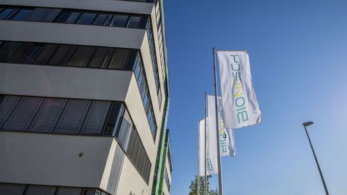 The BionTech headquarters in Mainz, Germany.