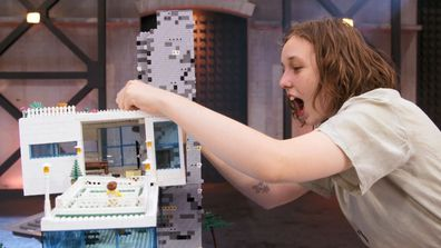 It was a sad moment when Iona and Summer lost much of their mansion, with it smashing to the ground on LEGO Masters.