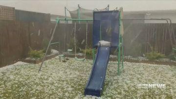 Hailstones size of cricket balls batter south-east Queensland