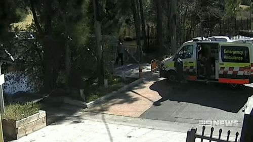 Witnesses to the attack called an ambulance, and the child was taken to hospital. Picture: 9NEWS