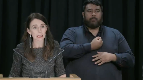 """NZ Prime Minister Jacinda Ardern says at this stage there is no indication the stabbing at a Dunedin supermarket was a """"domestic terror event""""."""