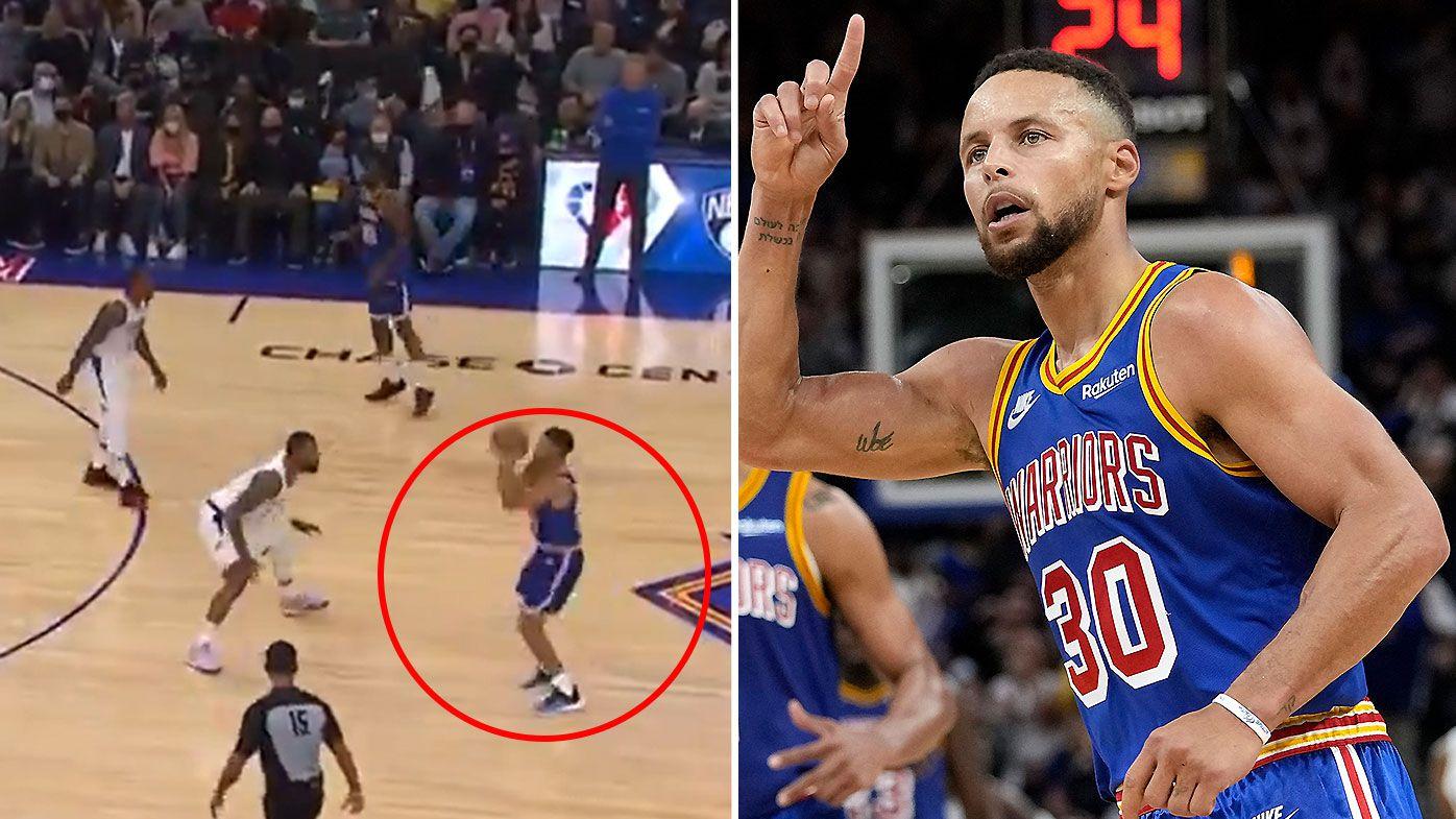 Curry's ridiculous shooting stuns NBA world