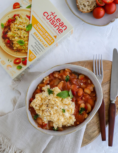 Lean Cuisine high protein breakfast beans and eggs