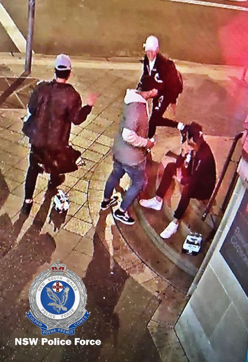 Police investigating a suspicious school fire in Sydney' west last month have released CCTV footage of four boys. Picture: NSW Police