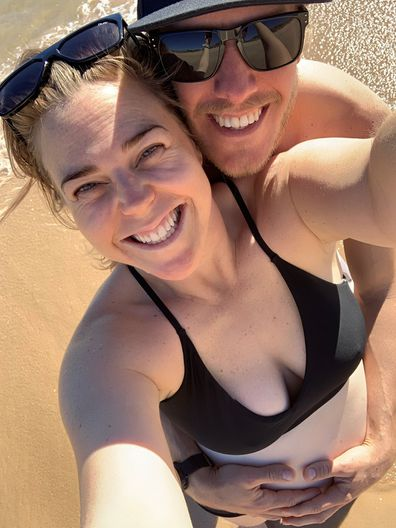Heidi Anderson with her husband selfie