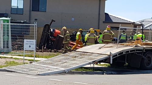 Worker seriously injured after being hit by excavator