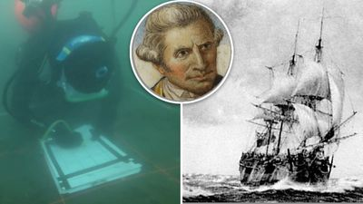 The final resting spot of Captain Cook's lost ship