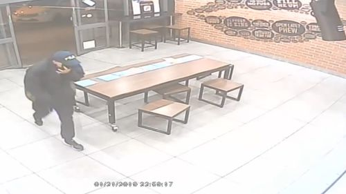 The foiled robbery occurred about 11pm yesterday.