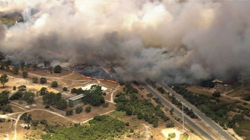 """The fire is """"fast moving"""" and residents have been urged to """"act immediately to survive""""."""