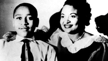 Mamie Till Mobley and her son, Emmett Till, whose lynching in 1955 became a catalyst for the civil rights movement. (AP)