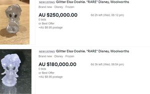 Warning over Woolworths Ooshies priced at tens of thousands of dollars online