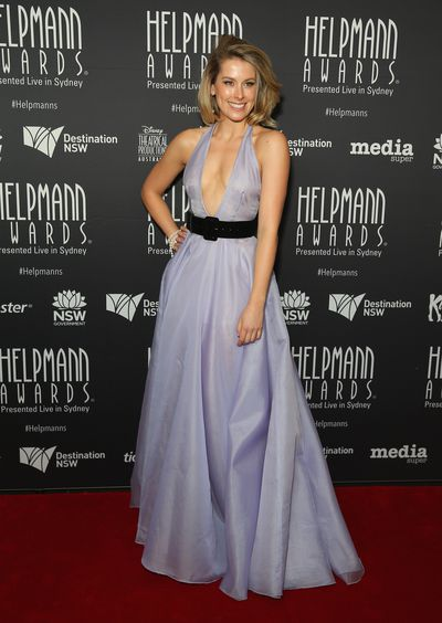 Amy Lehpamer in Daniel Learmont at the Helpmann Awards 2017, Capitol Theatre, Sydney.