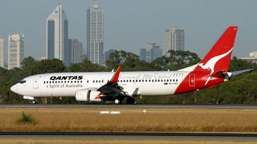 A Qantas 737 jet at Perth Airport. (Supplied).