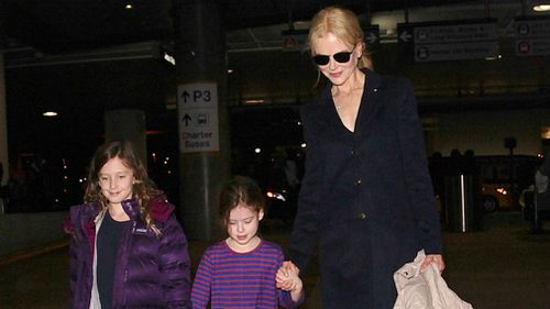 Kidman with daughters Sunday Rose and Faith. (AFP)