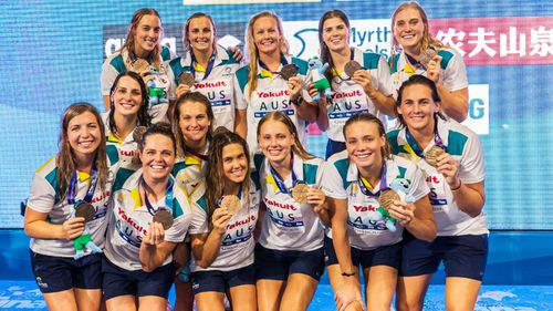 The Australian women's waterpolo team were celebrating their bronze medal win in South Korea when a nightclub platform collapsed.