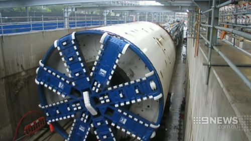 TBMs were seen as a less disruptive option than an immersed tube tunnel or coffer dam construction. (9NEWS)