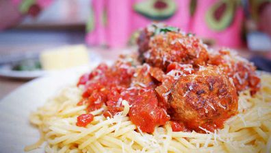 Movie style meatballs are always ready for a close-up