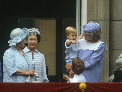 Prince William's first Trooping the Colour, 1984