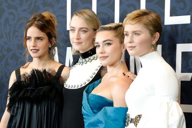 "Emma Watson, Saoirse Ronan, Florence Pugh, and Eliza Scanlen attend the world premiere of ""Little Women"""