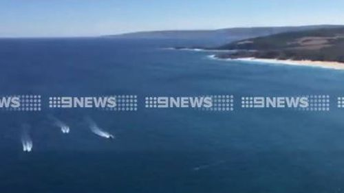 A number of people are involved in the search for the 25-year-old man. (9NEWS)