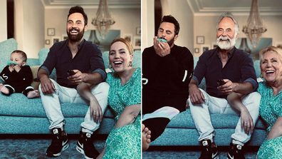 Cam and Jules share funny before and after pic of lockdown.