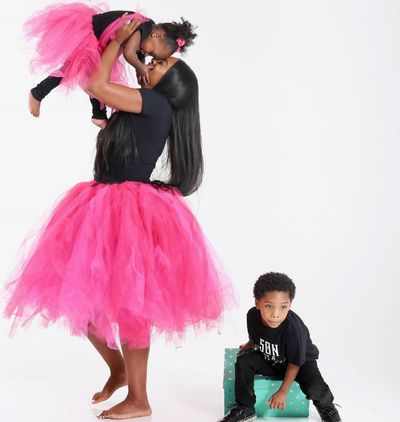 The tutu of us: this adorable snap showcases the mommy and me matching fashion from Trinity Rose Collection.