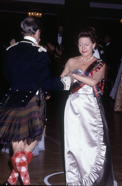 Princess Margaret  at the Royal Caledonian Ball at the Grosvenor House Hotel in London, May 1983