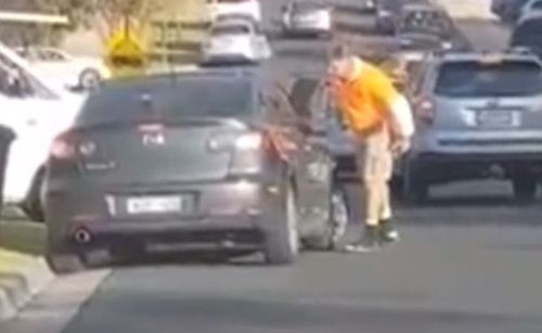 He eventually limps away from the vehicle, appearing to be in serious pain. Picture: 9NEWS