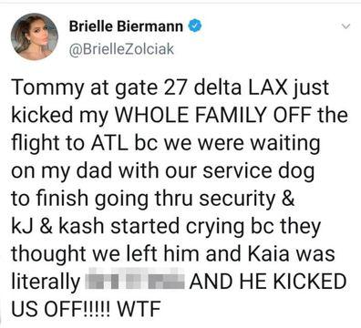 Brielle Biermann Twitter post