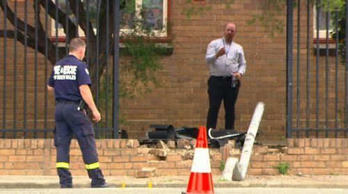The scene of the crash at Hurstville.