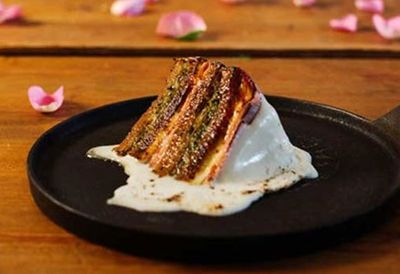 Jarlsberg wedding cake Reuben sandwich