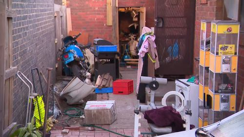 Police seized a number of items from the property. Picture: 9NEWS