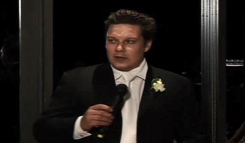 Detectives today also released new footage of Dick, filmed at a wedding in 2007.