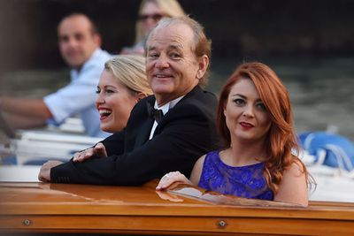Bill Murray was front row for all the fun, waving at fans lined up at the Grand Canal.
