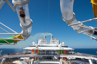With the ship standing more than 18 decks high, the view from the waterslide is bound to be impressive.