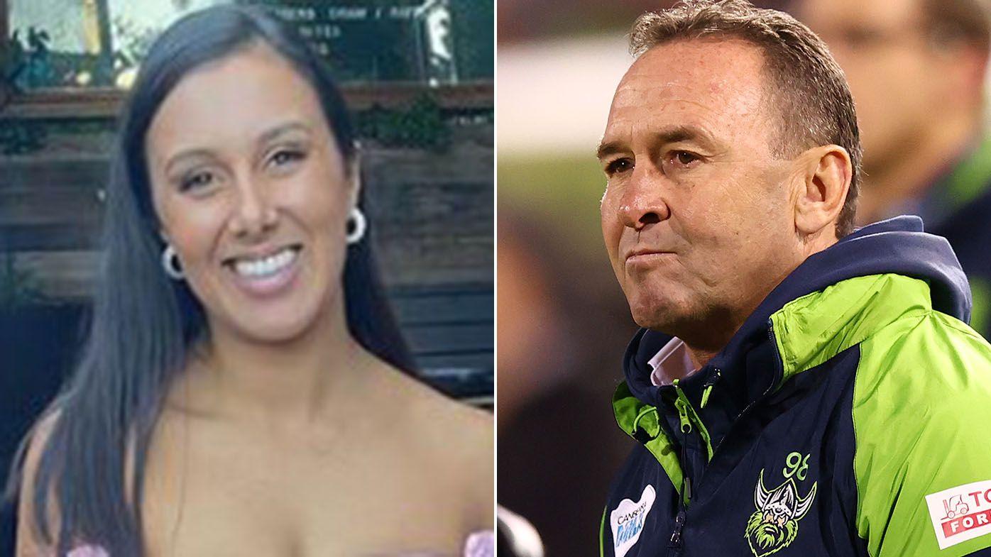 Raiders coach Ricky Stuart slammed by Joe Tapine's wife Kirsten in Instagram post