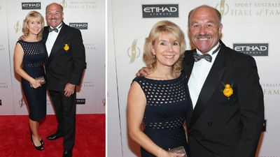 Rugby league great Wally Lewis and wife Jacqui. (AAP)
