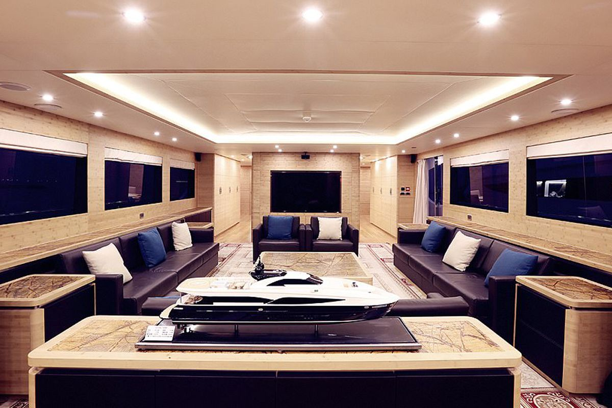 Marital Arts And Movie Star Jackie Chan Has Treated Himself To A 125 Ft Top Of The Range Super Yacht Complete With Helipad