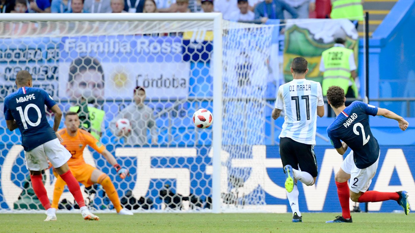 World Cup 2018: France's Benjamin Pavard's pearler ends Argentina's campaign