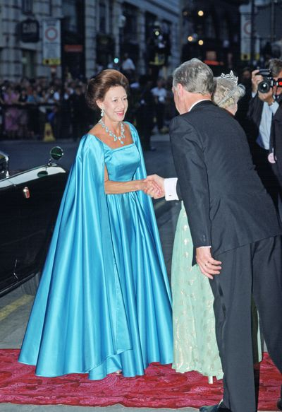 Princess Margaret at the London Palladium For The Queen Mother's 90th Birthday, July 1990