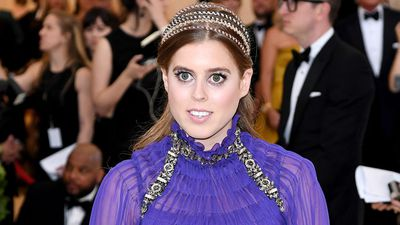 Princess Beatrice on the Met Gala red carpet, May 2018