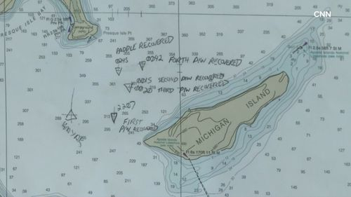 USGS Research Vessel KIYI was the first boat to arrive at the scene at 10pm (local time).