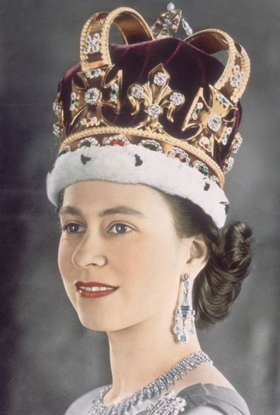 Queen Elizabeth's coronation portrait wearing the St Edward's Crown