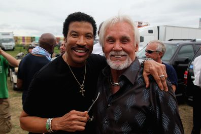 Lionel Richie and Kenny Rogers in 2012.